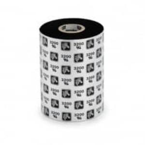 "Zebra 6000 Wax Ribbon, 6.14"" x 1476', 12 Rolls, #06000BK15645 - ZEB-06000BK15645"