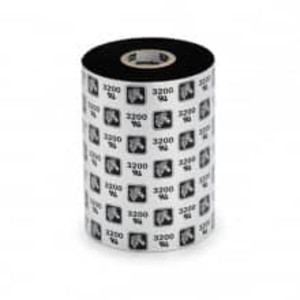 "Zebra 6200 Resin Ribbon, 3.27"" x 1476', 6 Rolls, #06200BK08345 - ZEB-06200BK08345"