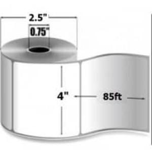 "Zebra 8000D, 4"" x 85', Direct Thermal Linerless Label, 20 Rolls, #LD-R4LF5P - ZEB-LD-R4LF5P"