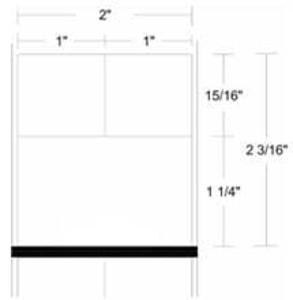 "Zebra 8000D Lab, 2"" x 2.1875"", Direct Thermal Paper Label, 12 Rolls, #10015775 - ZEB-10015775"