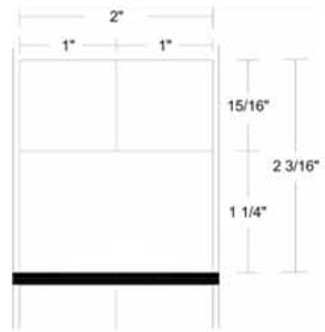 "Zebra 8000D Lab, 2"" x 2.1875"", Direct Thermal Paper Label, 36 Rolls, #10024049 - ZEB-10024049"