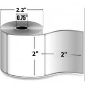 "Zebra 8000D Lab, 2"" x 2"", Direct Thermal Paper Label, 12 Rolls, #10015774 - ZEB-10015774"