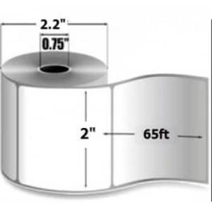 """Zebra 8000D Lab, 2"""" x 65', Direct Thermal Paper Linerless Label, 36 Rolls, #LD-R2LS5W - ZEB-LD-R2LS5W"""