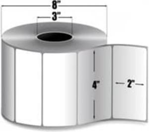 "Zebra PolyPro 3000T 4"" x 2"" Thermal Transfer Label, 3"" Core, 4 Roll/Case - ZEB-10011994"