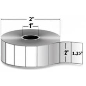 "Zebra PolyPro 4000D, 2"" x 1.25"", Direct Thermal Label, 36 Rolls, #10015778 - ZEB-10015778"