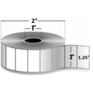 "Zebra PolyPro 4000D, 2"" x 1.25"", Direct Thermal Label, 36 Rolls/Carton #LD-R2BF5W - ZEB-LD-R2BF5W"