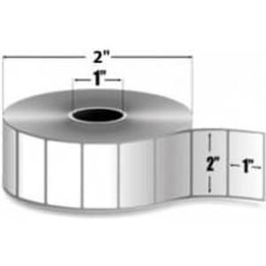 "Zebra PolyPro 4000T, 2"" x 1"", Thermal Transfer Label, 12 Rolls, #82414 - ZEB-82414"