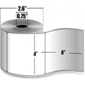 "Zebra PolyPro 4000T, 4"" x 6"", Thermal Transfer Label, 36 Rolls, #10008424 - ZEB-10008424"