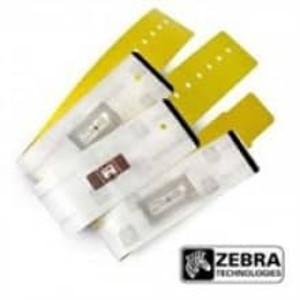 "Zebra RFID, 1"" x 10"", Yellow UHF RFID Wristband, 4 Rolls, #10018345 - ZEB-10018345"