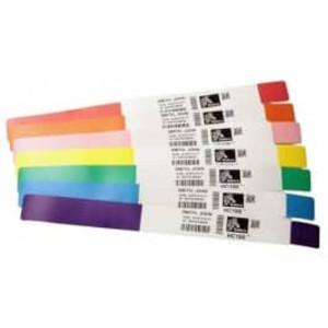 """Zebra Z-Band Direct Orange 1"""" x 11"""" Wristbands (6 Rolls) - ZEB-10004443-6"""
