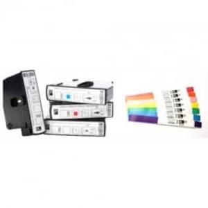 "Zebra Z-Band Direct White 1"" x 7"" Wristband Kit (6 Pack) - ZEB-10006999K"