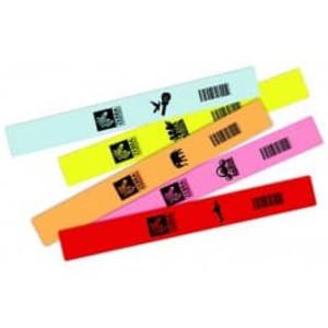 """Zebra Z-Band Fun, 1"""" x 10"""", Orange Wristband, 4 Rolls, #10012712-6 - ZEB-10012712-6"""