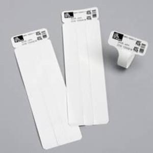 """Zebra Z-Band UltraSoft, 1"""" x 7"""", White Wristband, 6 rolls, #10018857 - ZEB-10018857"""