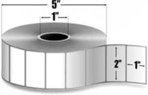 "Zebra Z-Perform 2000D, 2"" x 1"" Direct Thermal Label, 6 Rolls/Case - ZEB-10010028"
