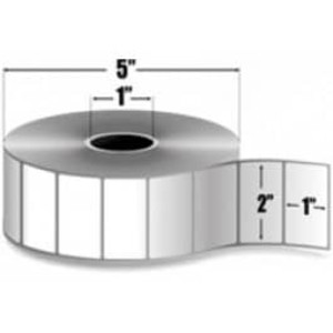 "Zebra Z-Perform 2000T, 2"" x 1"", Thermal Transfer Label, 6 Rolls/Case - ZEB-10005850"