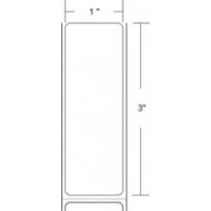 "Zebra Z-Select 4000D, 1"" x 3"" Direct Thermal Labels, 6 Rolls/Case - ZEB-10010036"