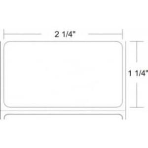 "Zebra Z-Select 4000D, 2.25"" x 1.25"" Direct Thermal Labels, 12 Rolls/Case - ZEB-10015341"
