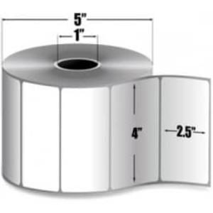 "Zebra Z-Select 4000D, 4"" x 2.5"" Direct Thermal Labels, 6 Rolls/Case - ZEB-10010048"