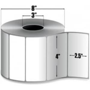 "Zebra Z-Select 4000D, 4"" x 2.5"", Direct Thermal Label, 4 Rolls, #72344 - ZEB-72344"