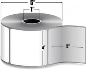 "Zebra Z-Select 4000D, 4"" x 5"" Direct Thermal Labels, 12 Rolls/Case - ZEB-10015346"