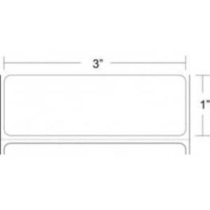 """Zebra Z-Select 4000T, 3"""" x 1"""", Thermal Transfer Label, 4 Rolls, #10022945 - ZEB-10022945"""