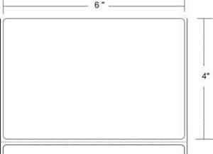 """Zebra Z-Select 4000T, 6"""" x 4"""", Thermal Transfer Label, 2 Rolls, #73909 - ZEB-73909"""