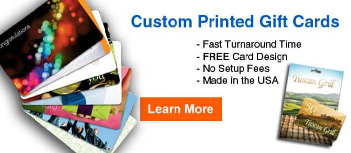 Custom Printed Gift & Loyalty Cards - Learn More!