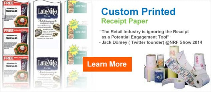 Custom Printed Receipts - Get a Free Proof - Inquire Now!