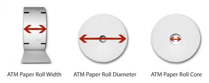 NCR SelfServ ATM Paper Two-Sided Thermal - 3 125